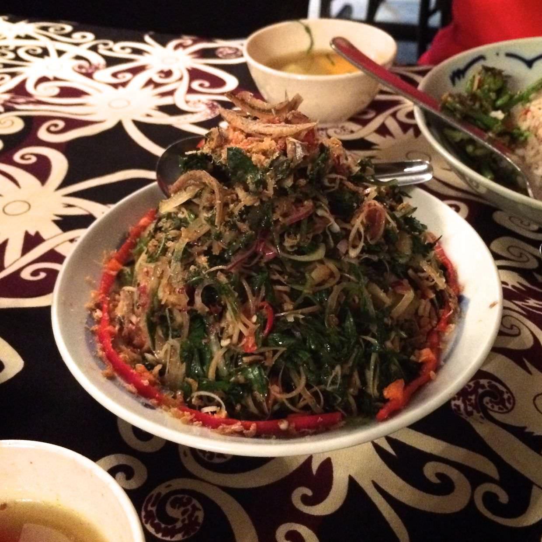 A tower of Dayak cuisine, Ulam raja
