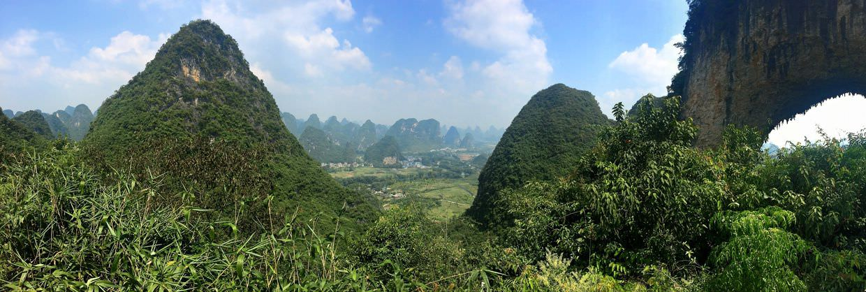 Panorama from the top of Moon hill