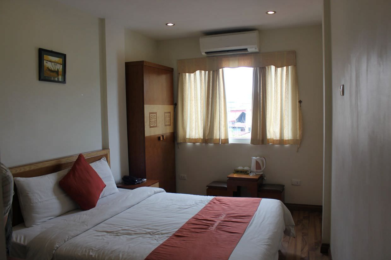 Our modest room in Hanoi
