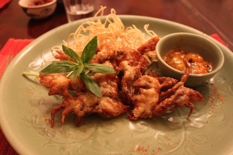 Soft shelled crab at Madame Hien's