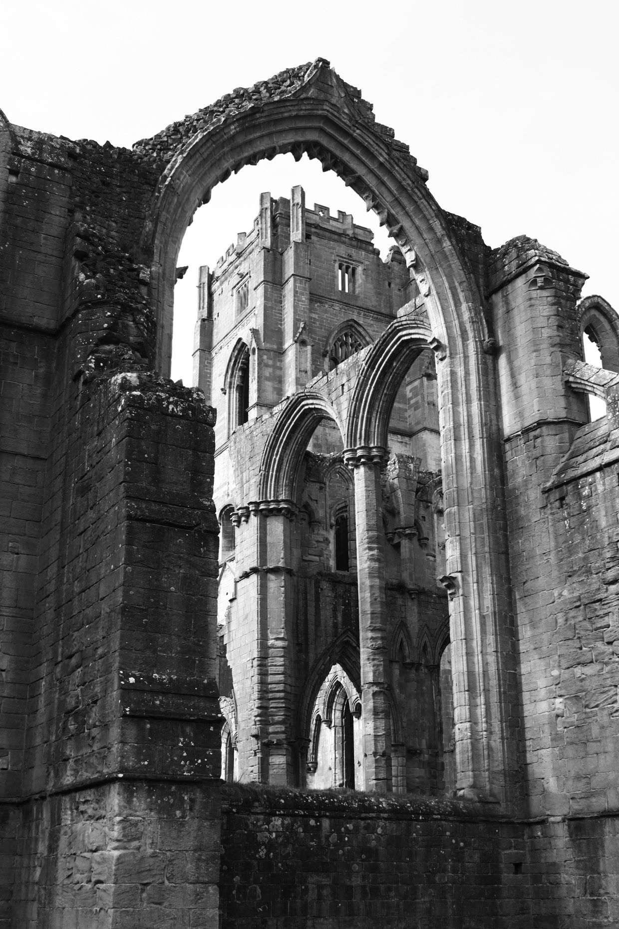 The ancient and beautiful Fountains Abbey