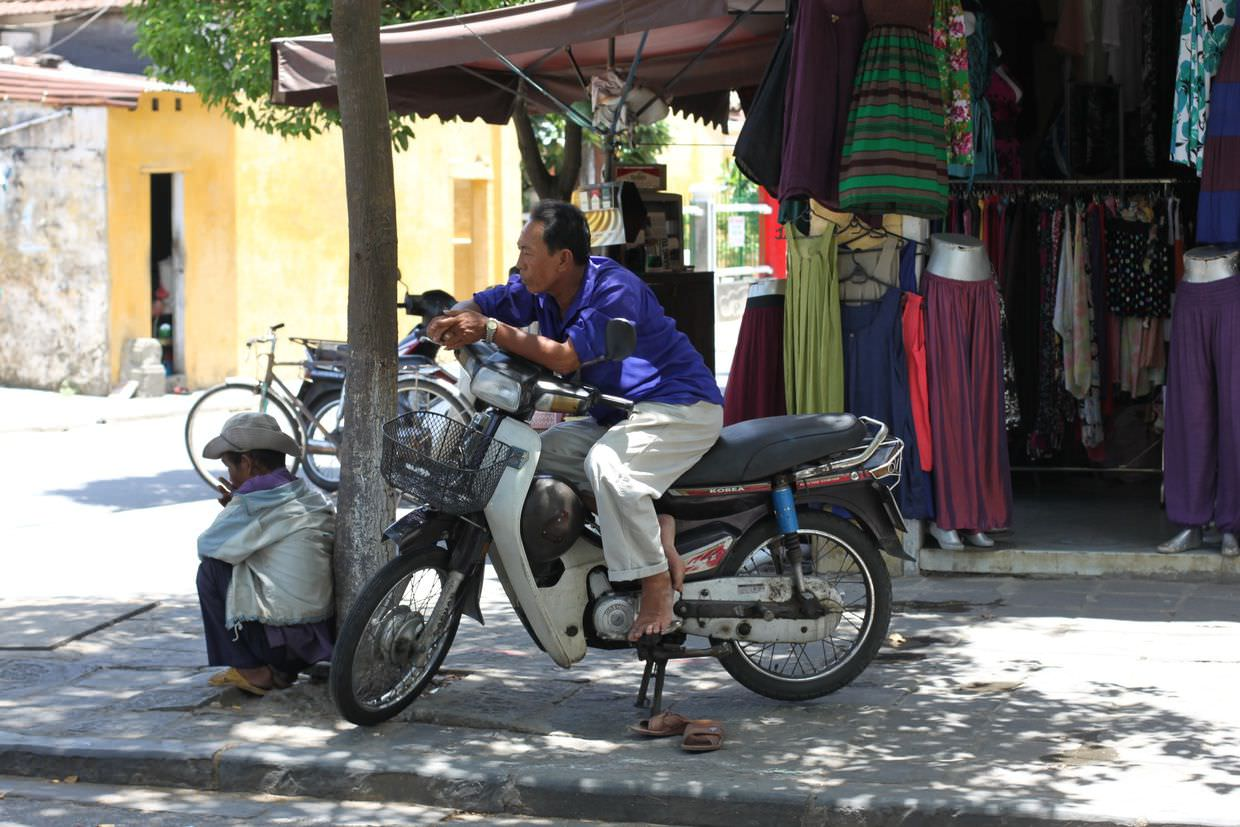 Motorbikes and tailors