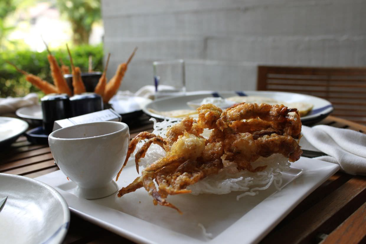 The best soft shelled crab we'll ever eat