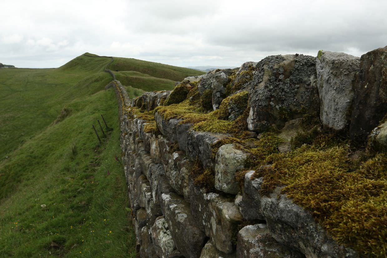 Hadrian's Wall at Housestead's Roman Fort