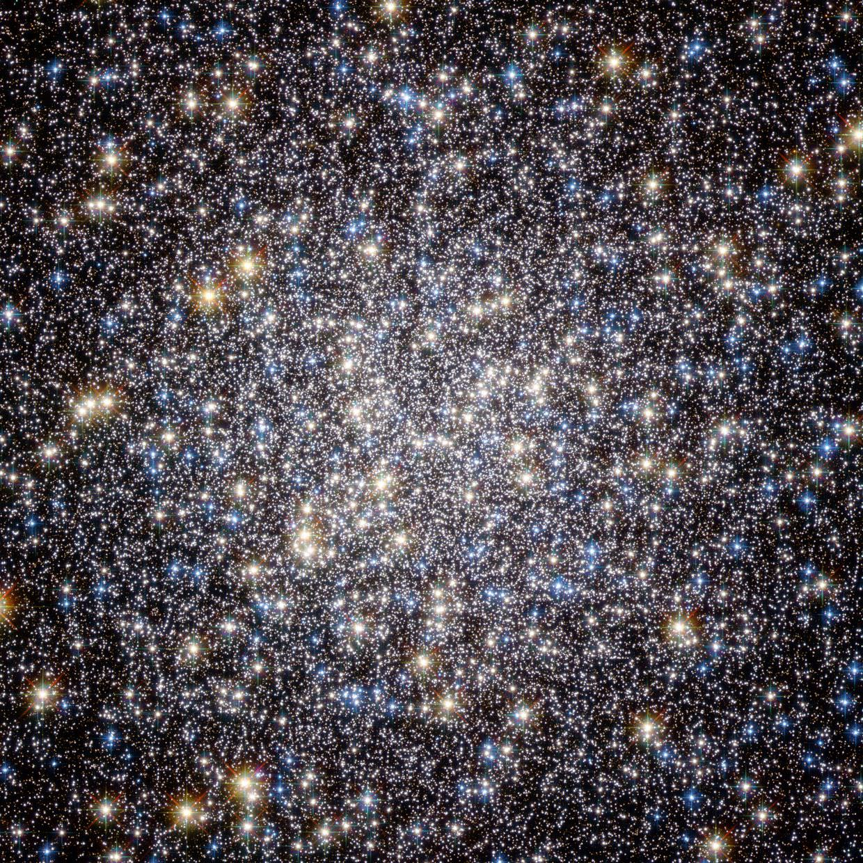 """Heart of M13 Hercules Globular Cluster"" by ESA/Hubble and NASA"