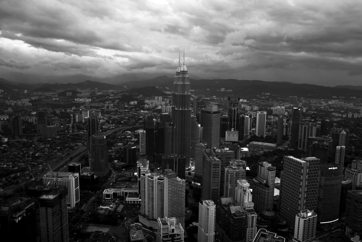 Twilight view of Kuala Lumpur from Atmosphere