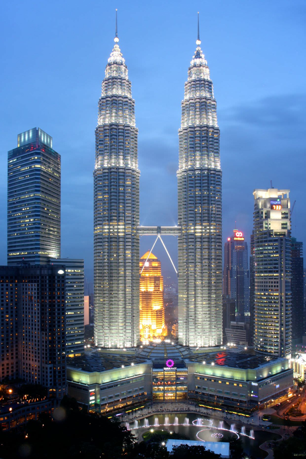 View of the Petronas Towers from Traders hotel