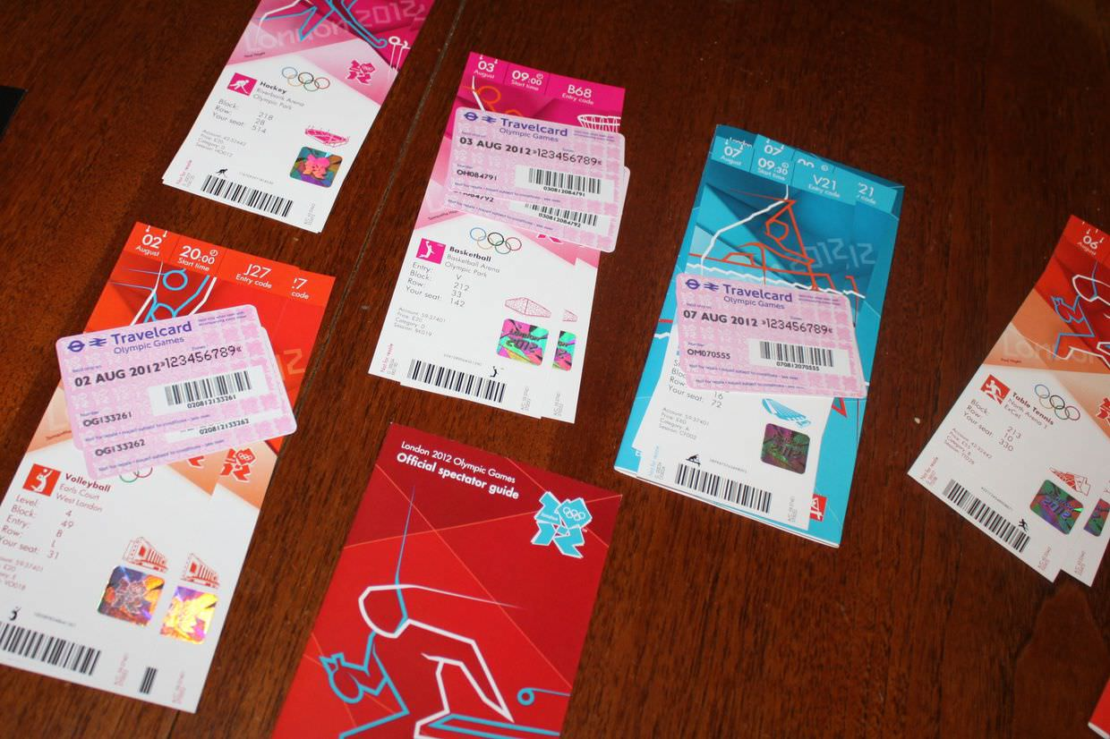 Our London 2012 olympic tickets