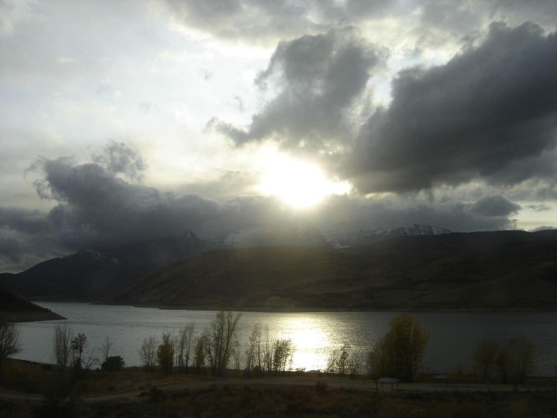 Sun over the mountains