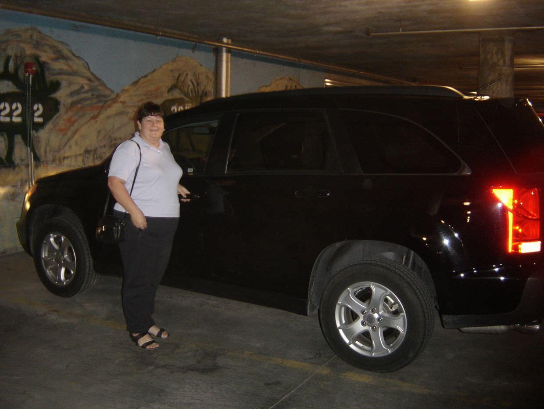 Mum and our Suzuki rental