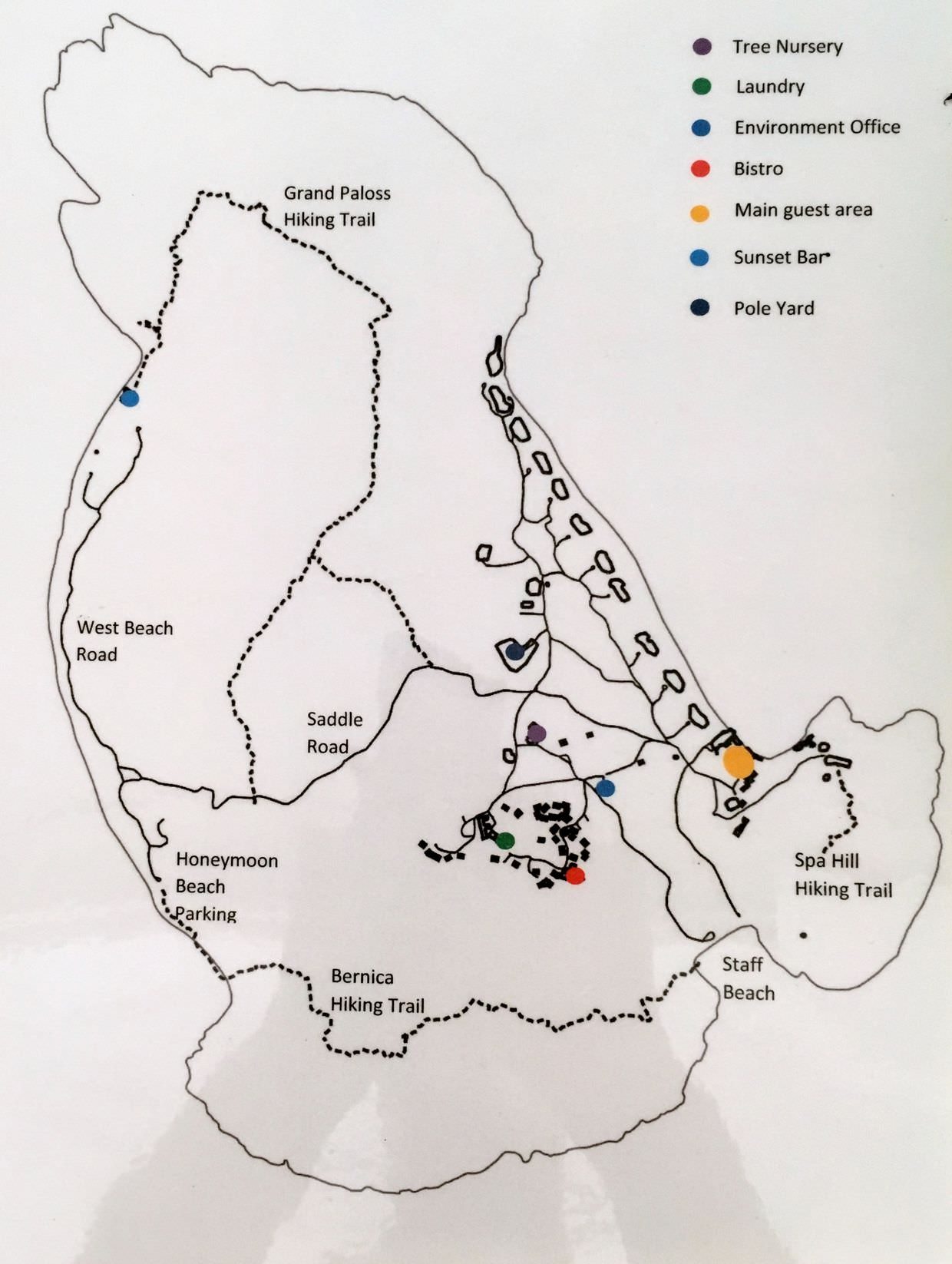 Map of North Island