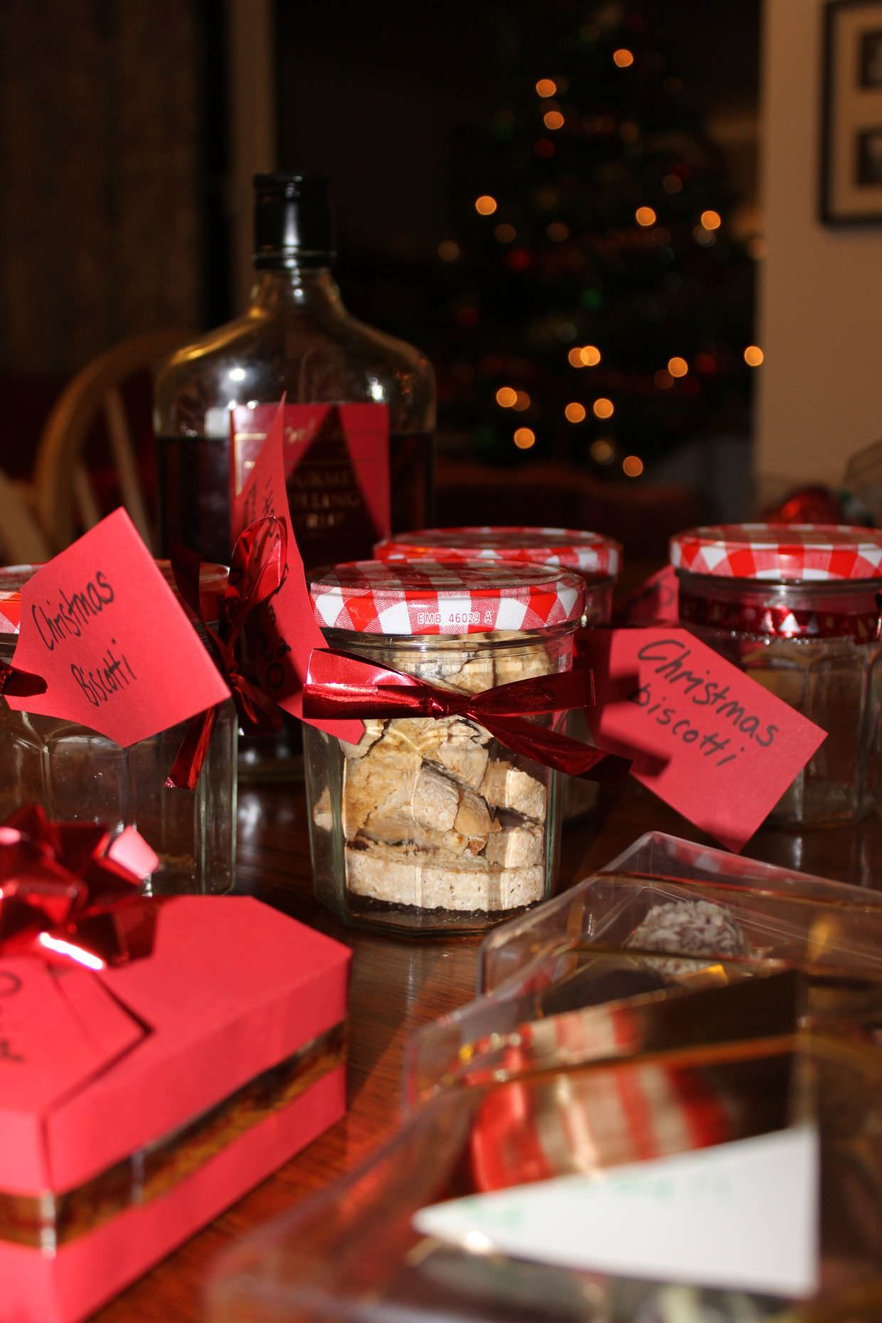 Homemade Christmas biscotti