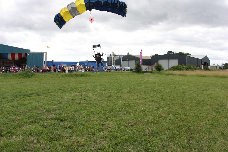 Legs up for landing