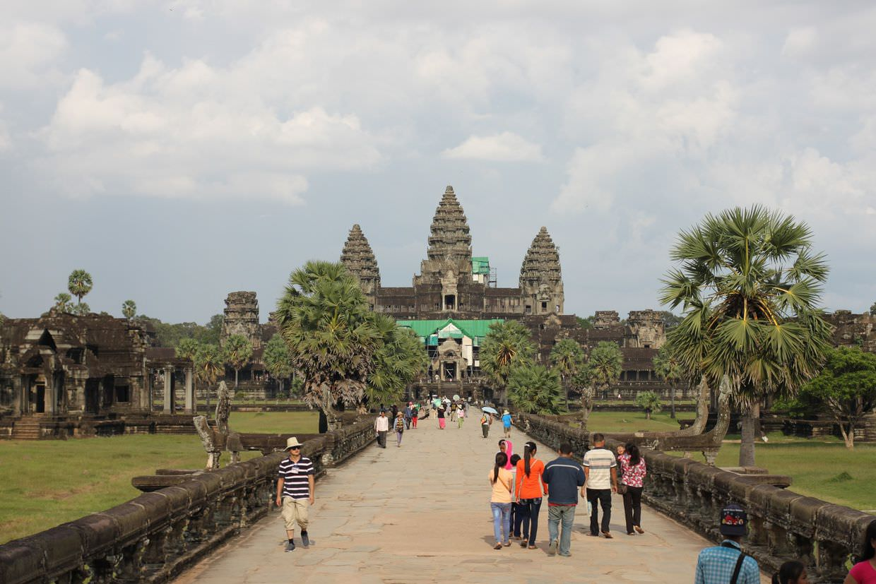 Angkor Wat, from the entrance