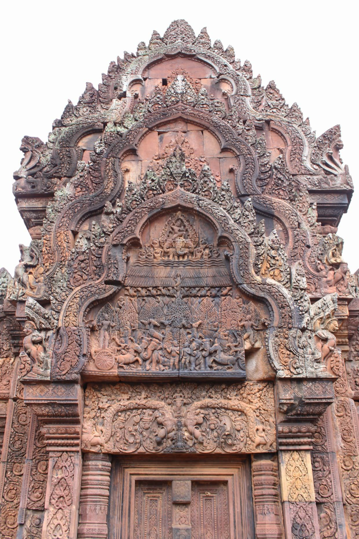 Sandstone carvings at Banteay Srei