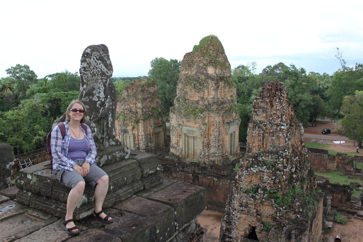 Samantha at the top of Pre Rup