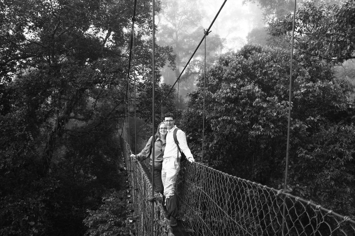 Samantha and Paul on the canopy walk