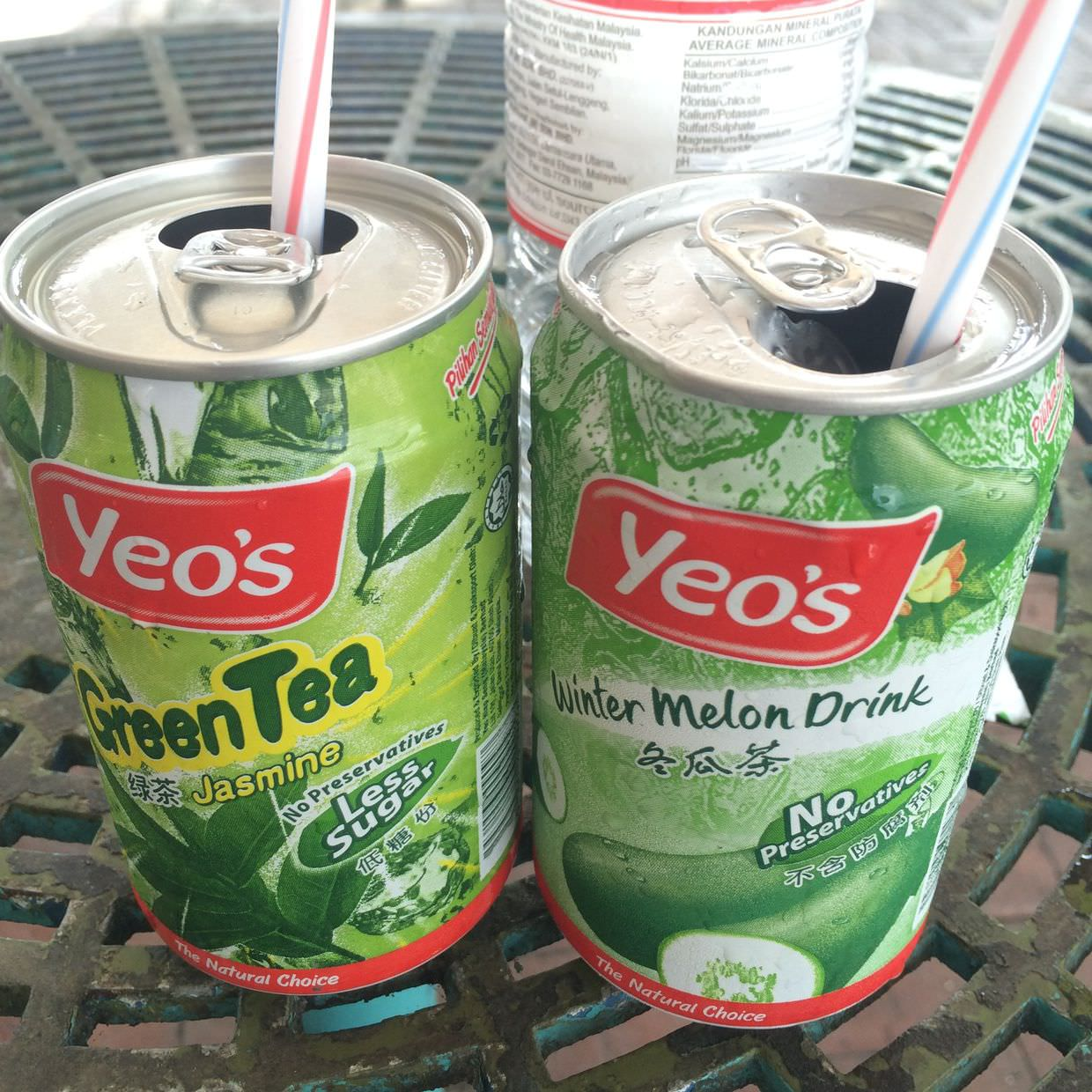 Yucky winter watermelon and green tea drinks