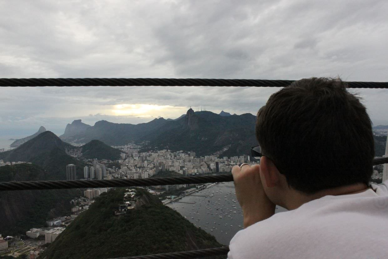 Paul looking out at Rio from Sugarloaf mountain