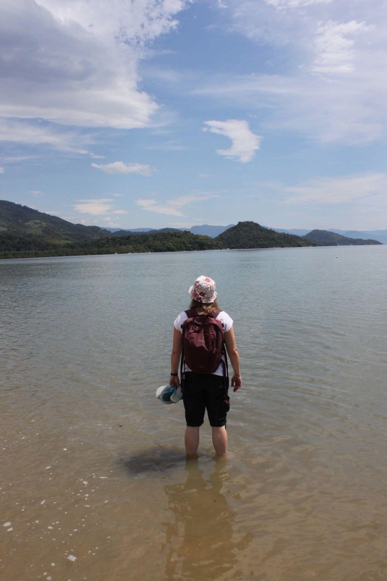 Sam on Praia do Jabaquara