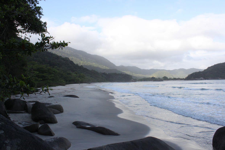 Secluded beach near Trindade