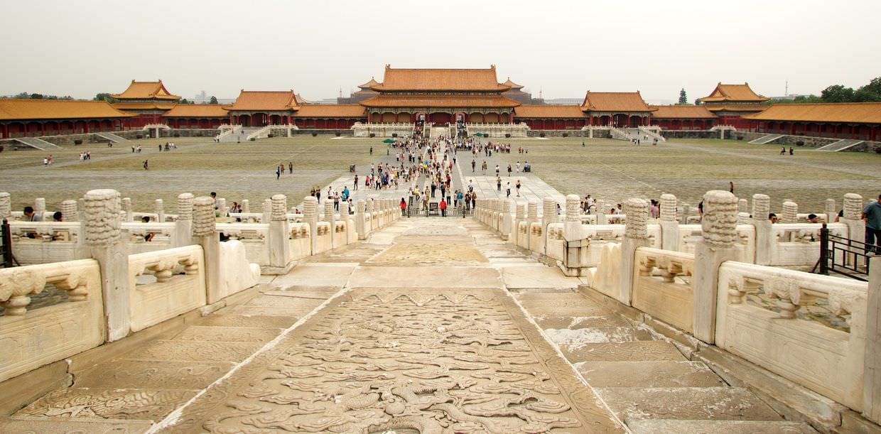 Forbidden city courtyard and Gate of Supreme Harmony