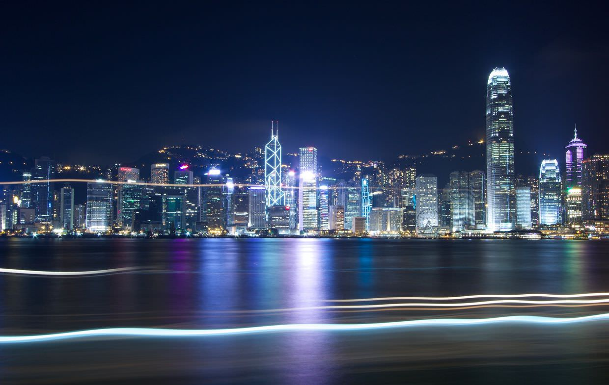 Classic Hong Kong skyline, as seen from Kowloon