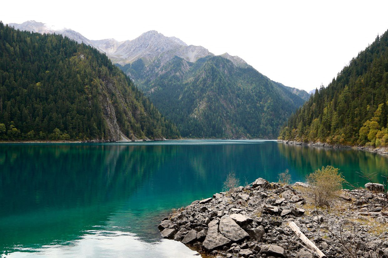 Long Lake at Jiuzhaigou