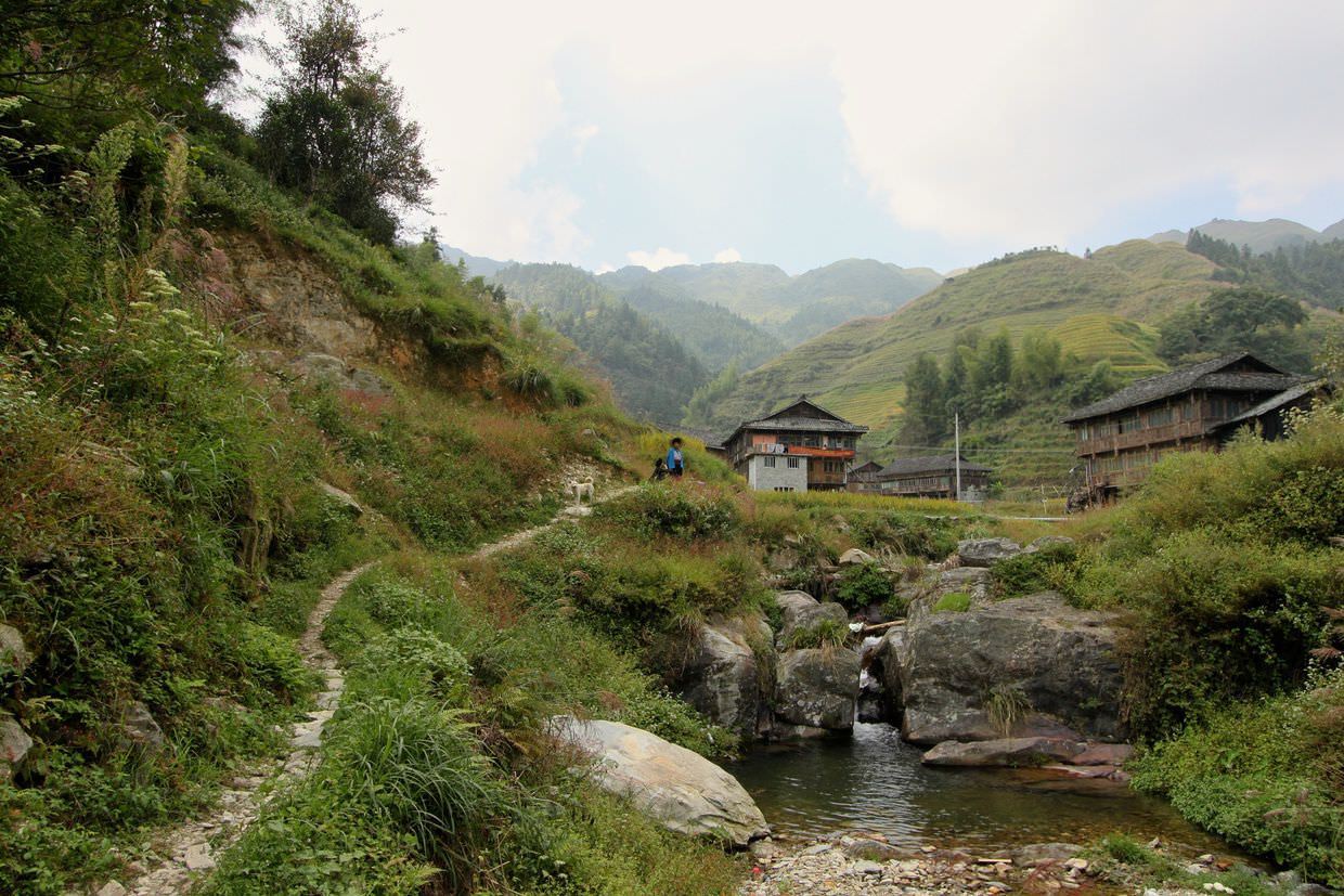 Approaching Zhuang village