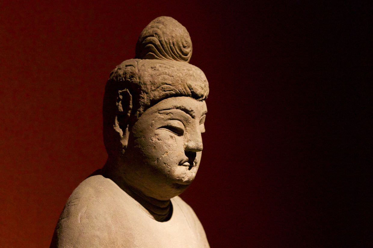 A Buddha statue in the Shanghai museum