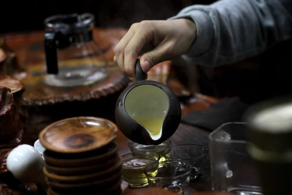 Tea ceremony at the folk house