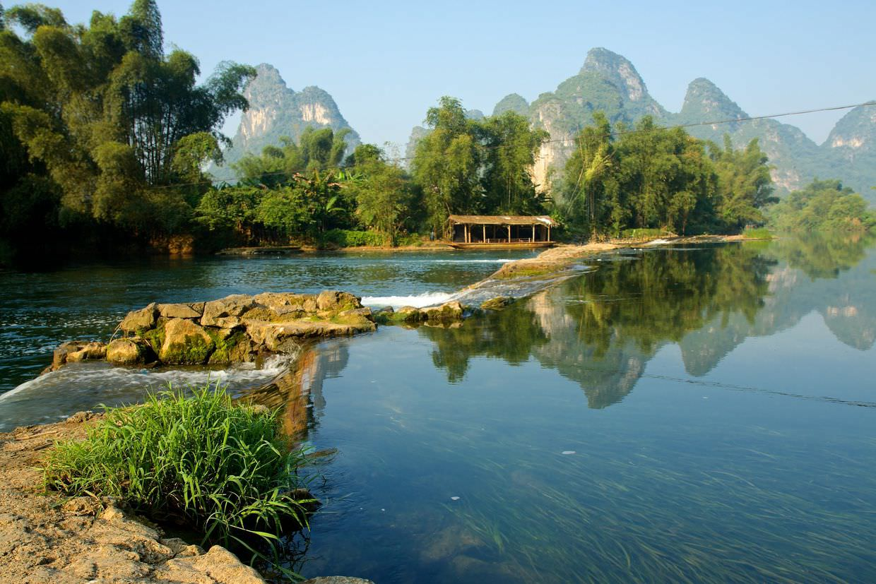 View of Yulong river from our Yangshuo Mountain Retreat
