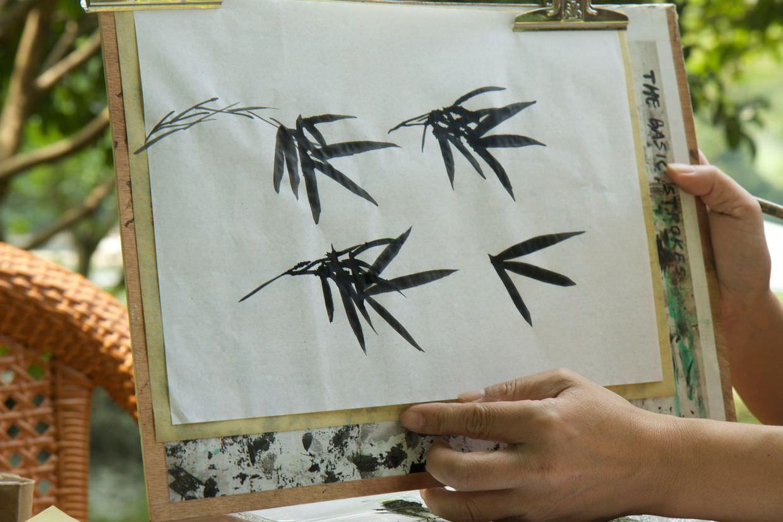 Example bamboo strokes