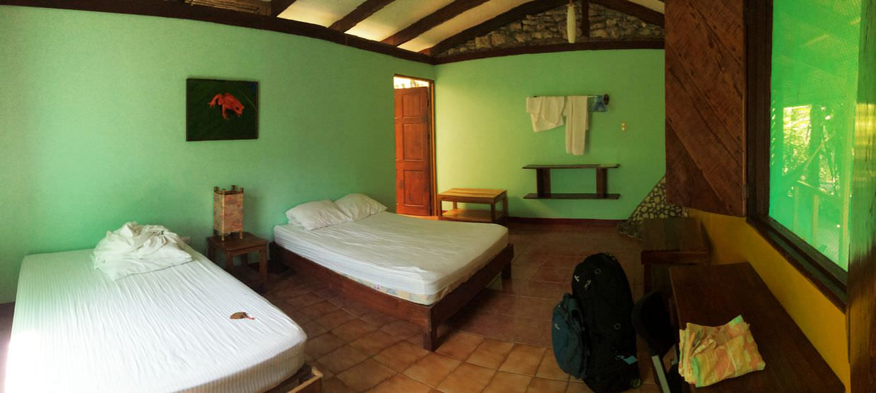 Our room at Atlantida Lodge