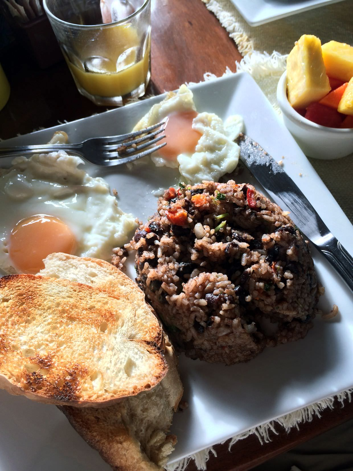 Gallo Pinto at Atlantida Lodge