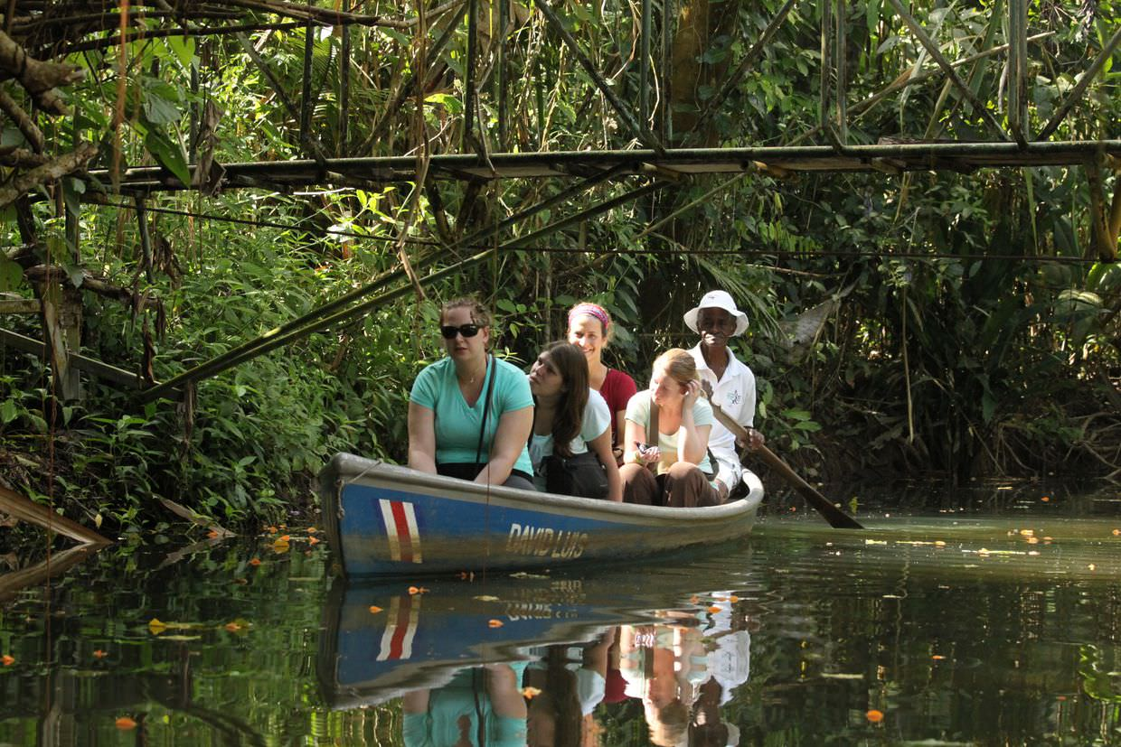 Canoe tour at the Sloth sanctuary