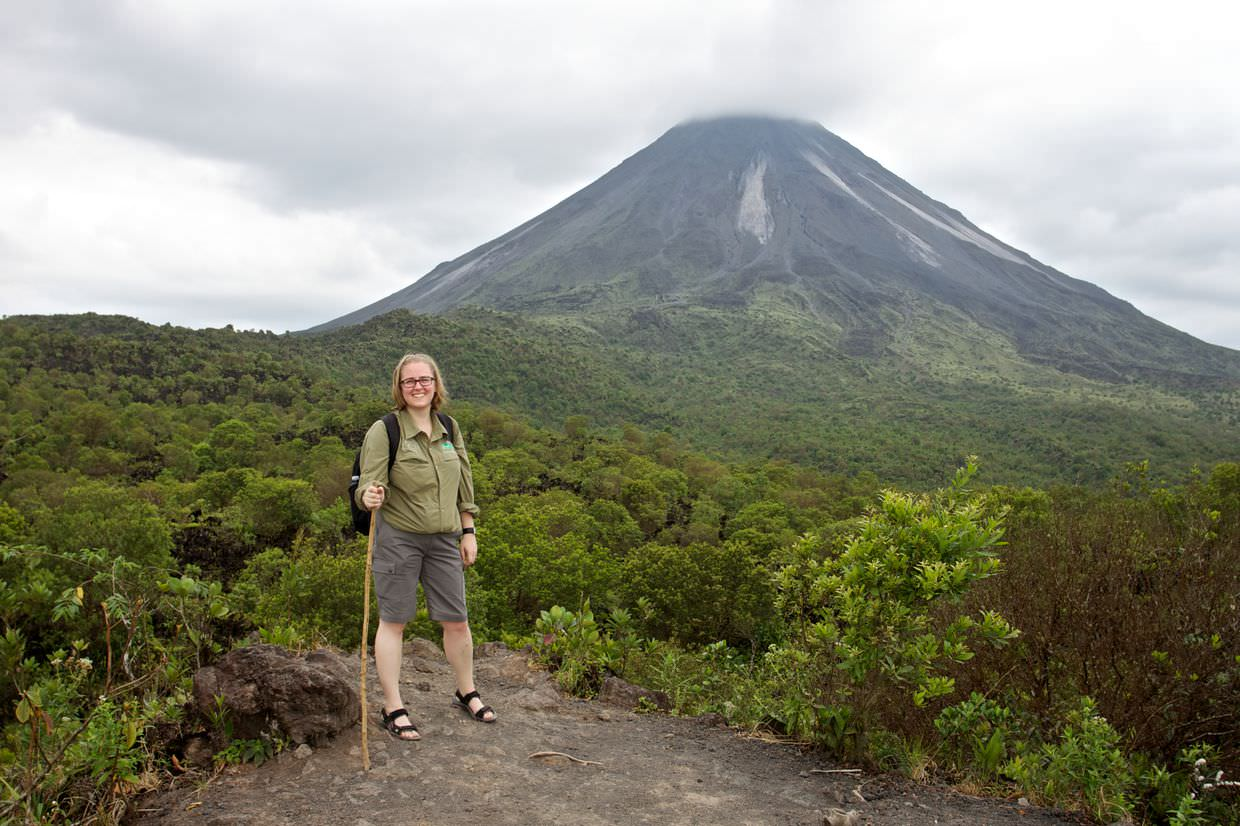 Samantha and Arenal Volcano
