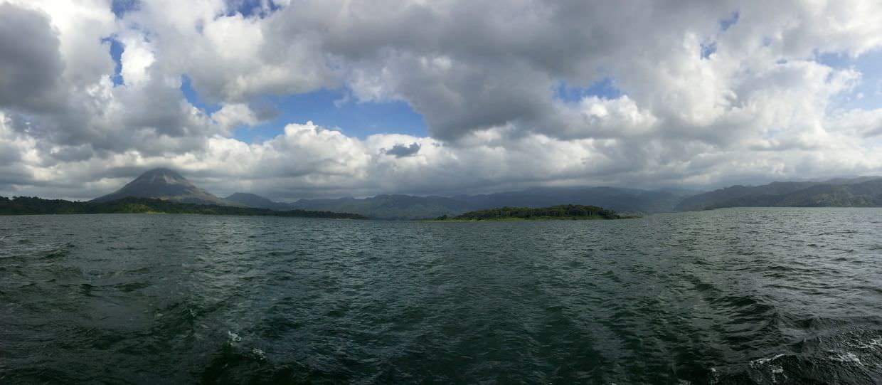 Leaving Arenal by boat