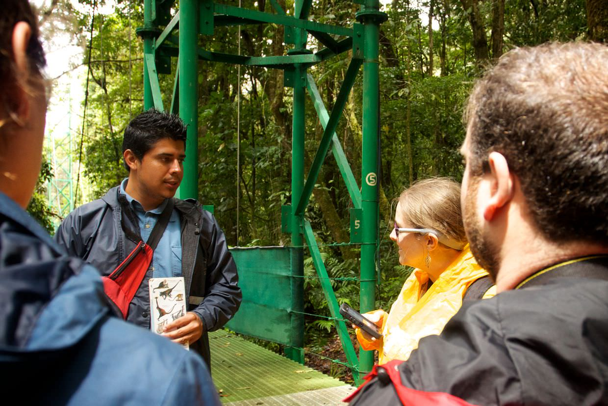 Our guide, Andre, telling us about monkeys in Costa Rica