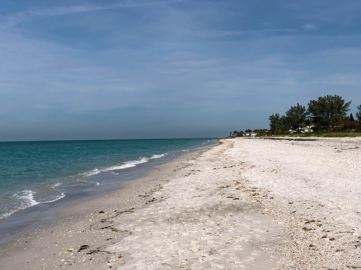 The beach at Longboat key, if you can find it