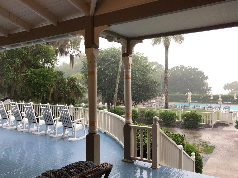 How the rain looked when we left Jekyll Island