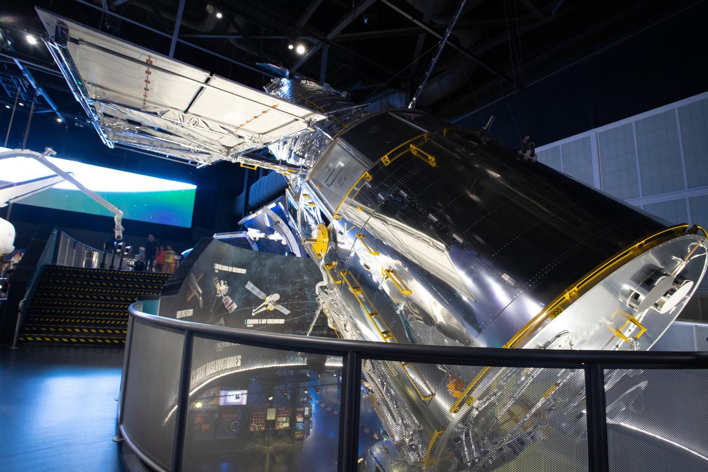 A lifesize mockup of Hubble telescope
