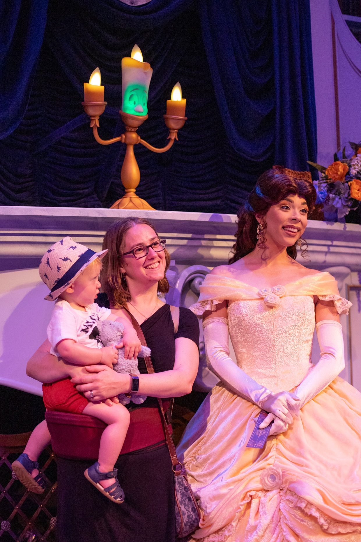 Lumiere, Belle, Samantha and Conway