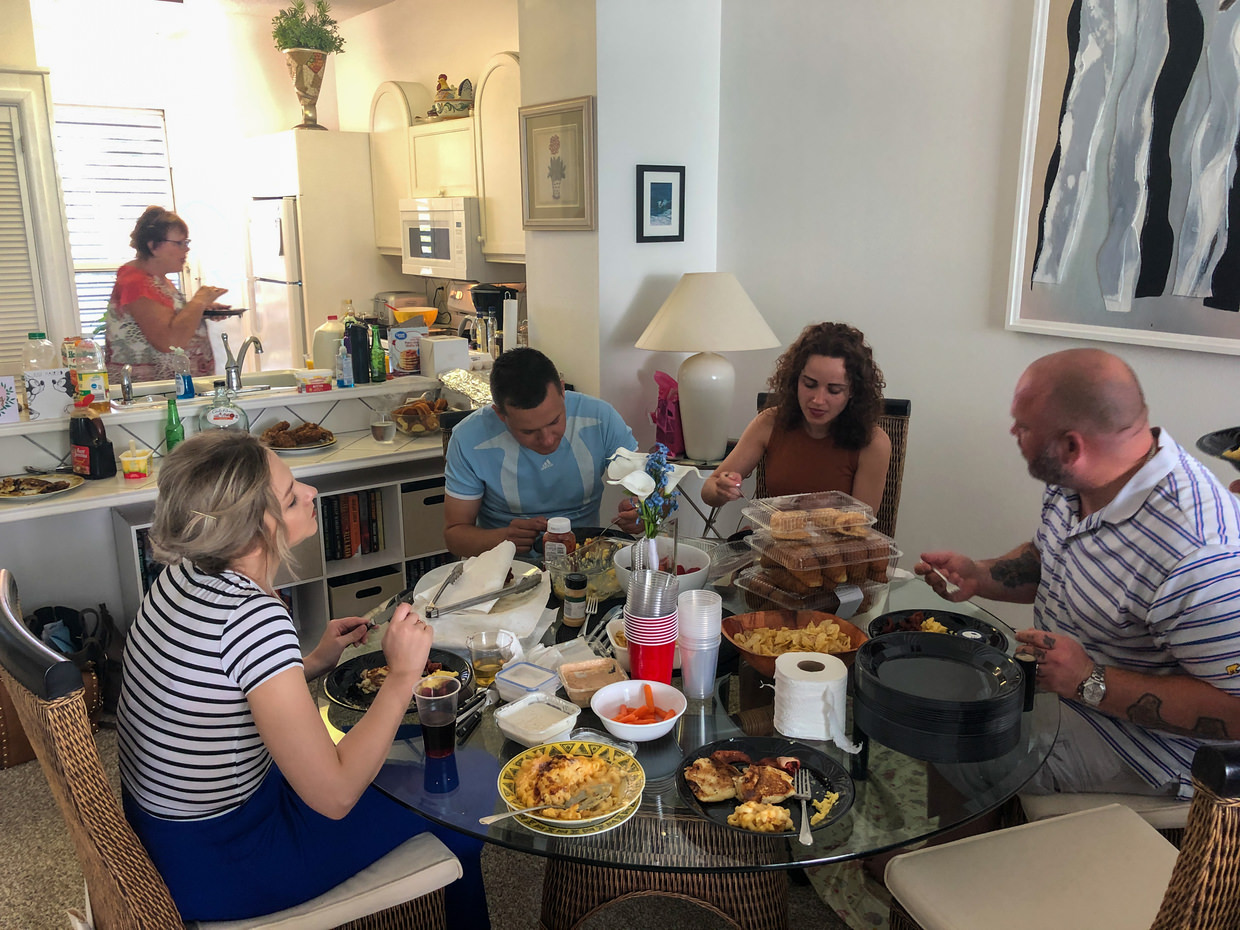 Sunday brunch at our condo
