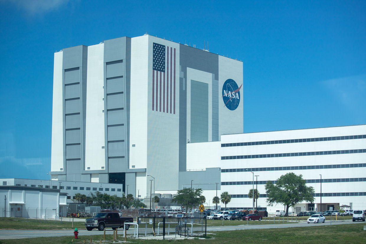 The famous vehicle assembly building (VAB)
