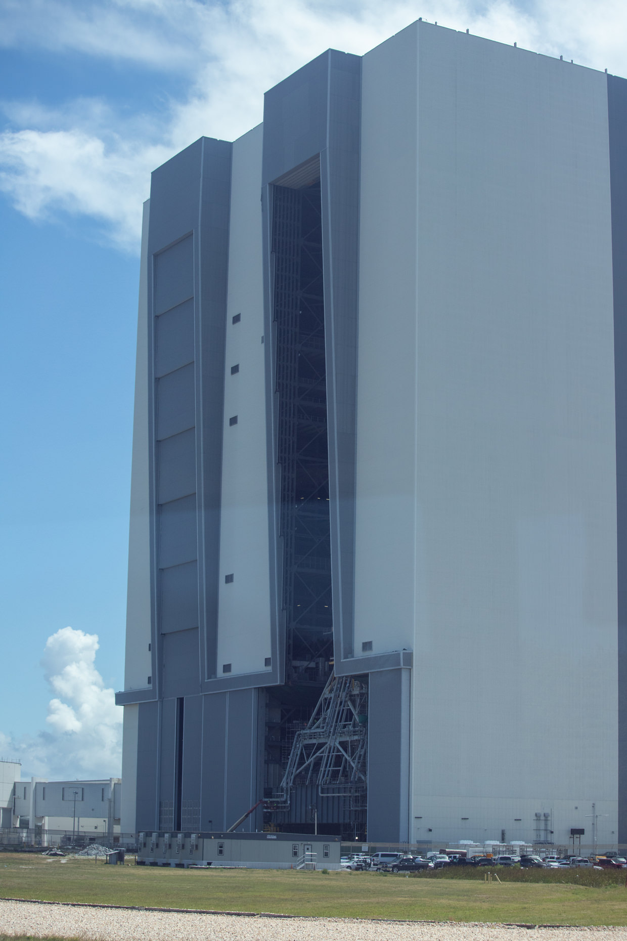 The back of the VAB, where the space shuttles exited before launch