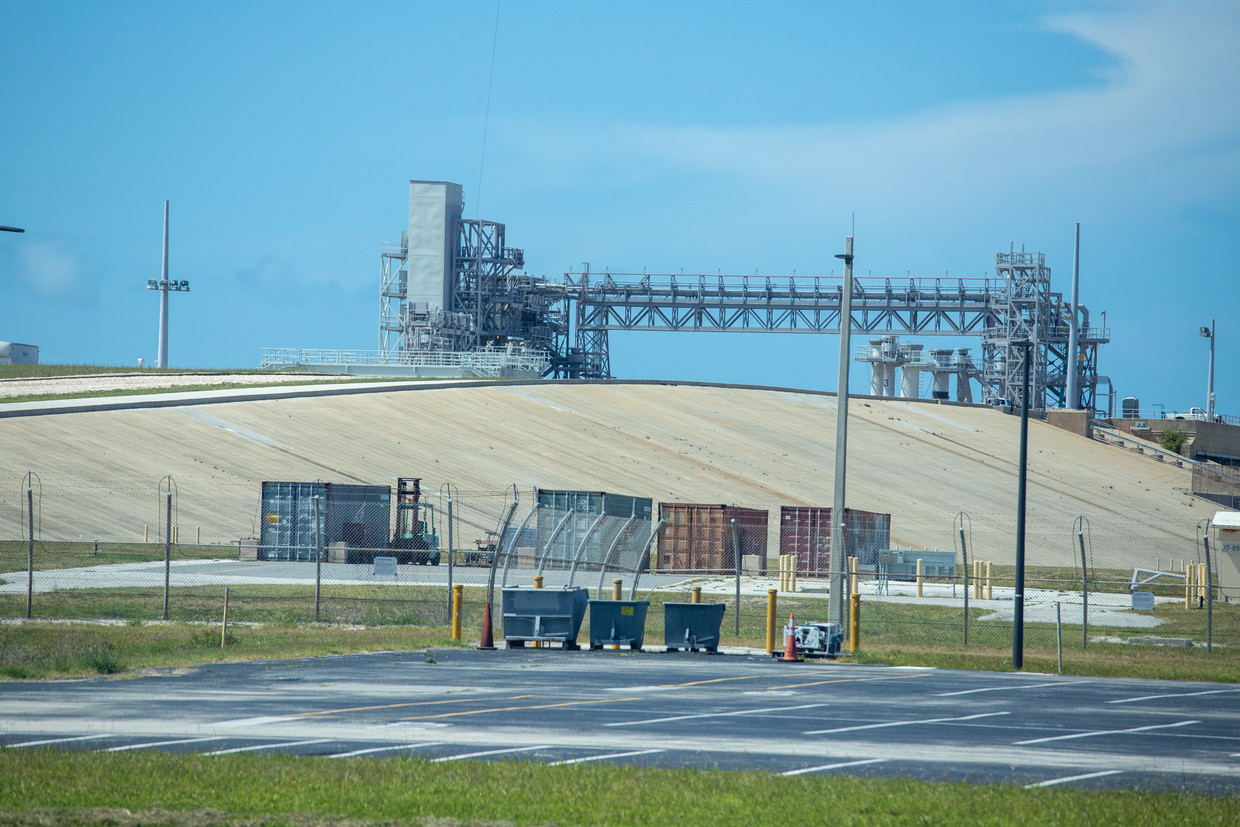Launch pad 39A, where we left for the moon