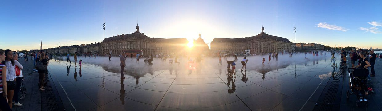Panorama of Miroir d'eau