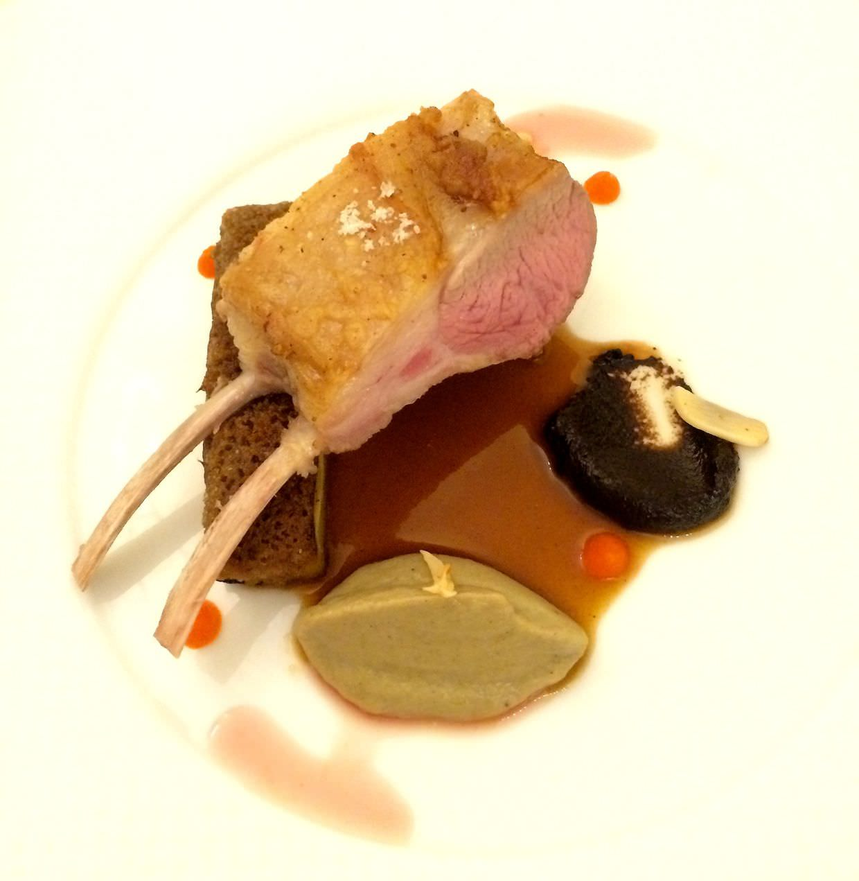 Lightly smoked lamb with truffle