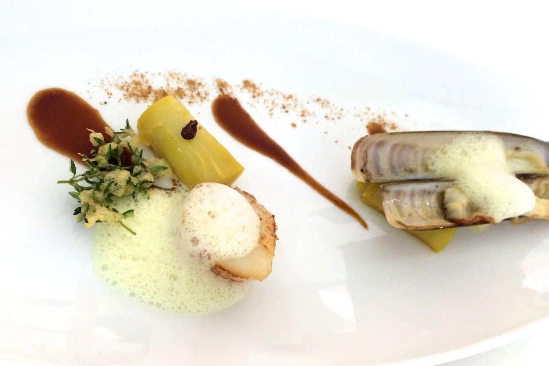 Razor clam and scallop